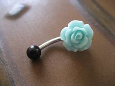 #mint #flower #belly #button #navel #ring