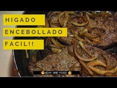Hígado encebollado, la forma más sencilla de prepararlo - YouTube Colombian Food, Carne, Recipies, Food And Drink, Beef, Cooking, Youtube, Protein, Dinners