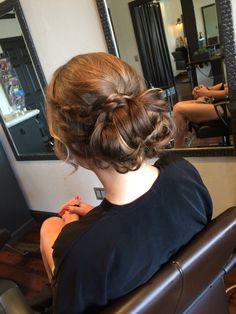 Updo for bridesmaid