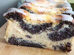 Poppy Seed Cheesecake (without base) Polish Cake Recipe, Cookie Desserts, Dessert Recipes, Baklava Cheesecake, Yummy Drinks, Yummy Food, Russian Desserts, Breakfast Menu, Homemade Cakes
