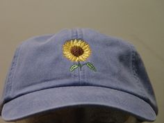 6b0a98f470f SUNFLOWER Hat - One Embroidered Women Men Fall Garden Baseball Cap - 24  Colors Mom Dad Gift Caps Available - Price Apparel Embroidery