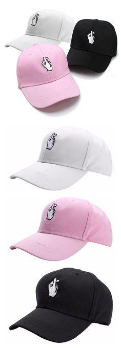 Men Women Hand Love Adjustable Hat / Hip Hop Kpop Curved Strapback Baseball Cap