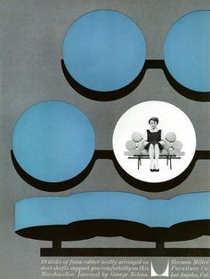 Vintage 1960 ad for Herman Miller Marshmallow Loveseat by ...
