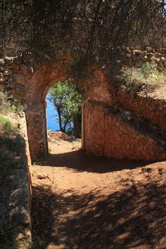 Beautiful Passage on the island of Kefalonia, Greece.. been there it's  a beautiful place~