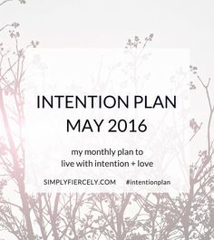 How did I do with my April goal of meditating everyday? And find out why I'm starting before I'm ready in my May Intention Plan.