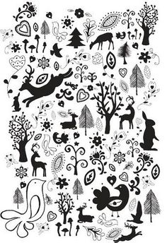 Maybe I can use this to make stencils for a canvas rug <-What previous pinner said. Use as stencils Scandinavian Pattern, Scandinavian Folk Art, Scandinavian Christmas, Noel Christmas, Christmas Crafts, Xmas, Stencils, Folk Embroidery, Embroidery Designs