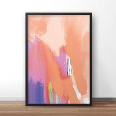 Orange Abstract Print Printable wall art modern by DanHobdayArt