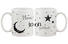 I Love You to the Moon and Back - Cute Matching Coffee Mug Cup Set (MC028)