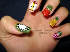 love these fruity nails