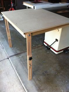 Table Saw Outfeed Table #2: Finished up and tested - by Drifter @ LumberJocks.com ~ woodworking community