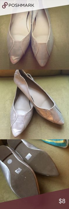 Silver flats. Silver flats. Worn few times. Big 10. Old Navy Shoes Flats & Loafers