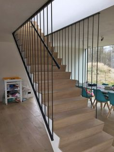 Home Stairs Design, Steel Stairs, House Stairs, Iron Gates, Stair Railing, Stairways, Urban, Living Room, Future