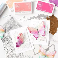 Butterfly Stencil, Butterfly Cards, Studio Cards, Liquid Watercolor, Thing 1, Mft Stamps, Card Sketches, Beautiful Butterflies, Clear Stamps