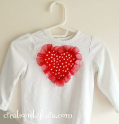 Ruffle Heart Shirt for Valentine's Day
