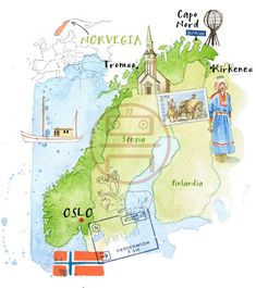 Map of Norway - Cristiano Lissoni