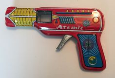 Vintage Tin Litho Japan Friction Atomic Space Gun with Sound | eBay