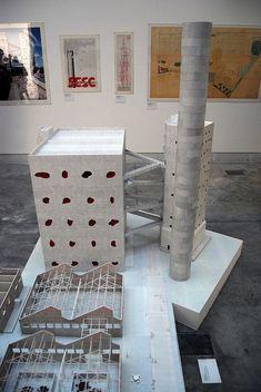 The 1:50 model by SANAA of Lina Bo Bardi's SESC Pompéia, XII Biennale architettura di Venezia 2010