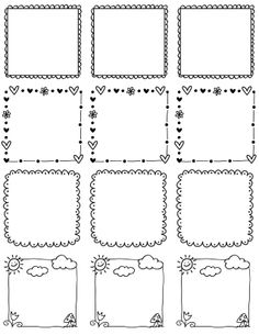 These really cute free printable Doodle Borders for labels are designed by Erin Rippy of InkTreePress. These doodle borders are in fillable and editable PDF templates. Use them as favor labels, shi… Doodle Frames, Doodle Art, Banners, Border Templates, Free Label Templates, Doodle Borders, Borders Free, Free Boarders, Cute Borders