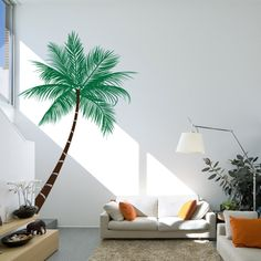 Queen Palm Tree Wall Decal Sticker
