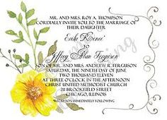 Romantic Yellow Wedding/Shower Invitations