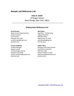 8 Reference Page for Resume Template 8 Great Cover Letters, Email Cover Letter, Free Cover Letter, Cover Letter For Resume, Notes Template, Program Template, List Template, Letter Templates, Reference Page For Resume