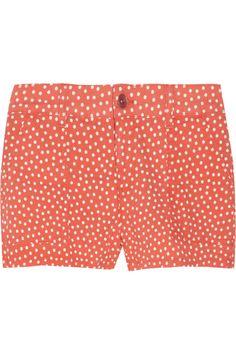 Splendid Polka-Dot Print Stretch-Denim Shorts