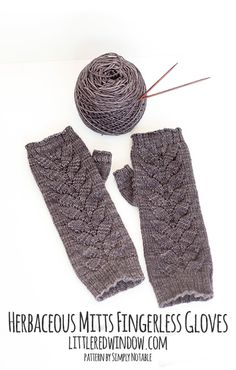 Herbaceous Mitts Fingerless Gloves