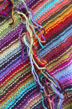 Getting Stitched on the Farm: Scrap Yarn Afghan - Another Sneak Peek from Crafting A Colorful Home + a Color Lesson