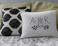 Personalized Family Tree Pillow Cover. Shades by BlueLeafBoutique