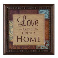 Love Makes Our Home Framed Art Print   Kirklands