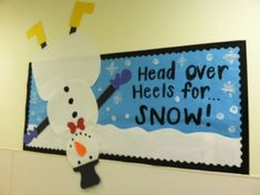 Winter bulletin board for preschool