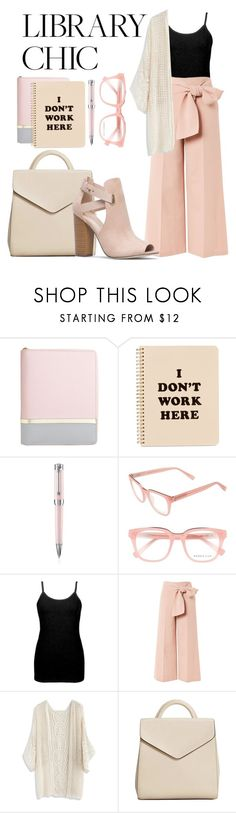 """Untitled #60"" by reamaya ❤ liked on Polyvore featuring ban.do, Montegrappa, Derek Lam, BKE core, Topshop, Chicwish, MANGO, Rika, finals and librarychic"