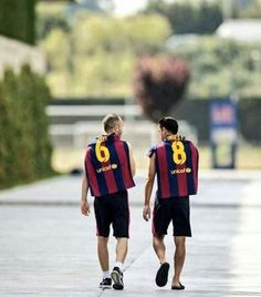 An open letter to my friend, Andres Iniesta by Xavi Hernandez [x] The first time I saw Andres play will always stay in my memory. Someone from the club said: 'Xavi, in the youth team there is a player who will be incredible. Cr7 Messi, Messi Soccer, Soccer Guys, Good Soccer Players, Best Football Players, Neymar, Barcelona Players, Barcelona Team, Lionel Messi Barcelona