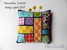Ellison Lane Quilts: Scrappy Pincushion Tutorial-Lapel Stick Style
