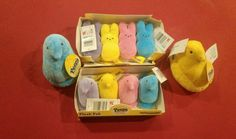 Peeps Plush Pak Pack Stuffed Toy Animal bunny basket Novelty Chick Easter Set 4 #CommonwealthToys