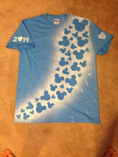 Disney t-shirt created using spray paint and freezer paper