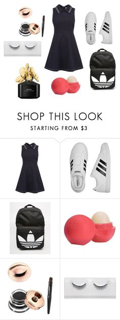 """Untitled #134"" by dariana-stoiu on Polyvore featuring RED Valentino, adidas, Eos and Marc Jacobs"
