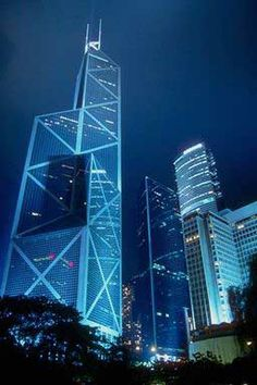 Torre del Banco de China en Hong Kong