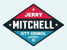 Jerry mitchell city council logo