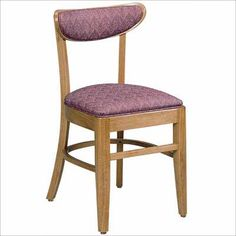 ACF-1931 Upholstered Wood Chair. Availability: Build to Order. Minimum order of 4. Classic wood chair for your restaurant/dining needs. All frames constructed of solid beech. Also available with solid wood seat. One year warranty.