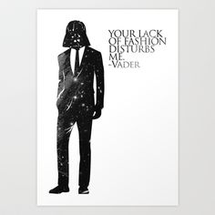the lord of fashion Art Print by H A P P Y J O Y - $15.00