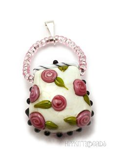Lampwork Glass Purse Pendant MADE TO ORDER