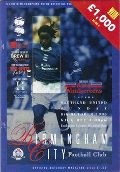 Birmingham City v Southend Utd Football Programme Division 1 08/10/1995