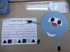 shapes + writing SOOO cute!