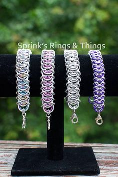 #chainmaille Vertebrae bracelet in choice of color by Sprinksrings on Etsy