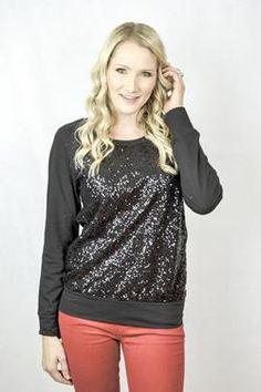thejeangirlshop.com Black Sparkle Sequin Top $35