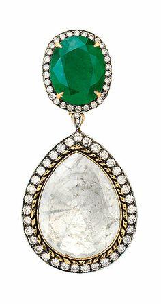 Polki and diamond earrings