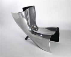 Alufelt Chair Chair Marc Newson  aluminum , polished DIMENSIONSHeight: 0.85 mWidth: 0.67 mDepth: 1 m | Paris, Centre Pompidou - Musée National d'Art Moderne - Industrial Design Centre