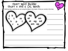 Valentine's Short Vowel CVC Games and Activities is from Games 4 Learning. It is loaded with Valentine's phonics fun with short vowel CVC words. $ by gayle