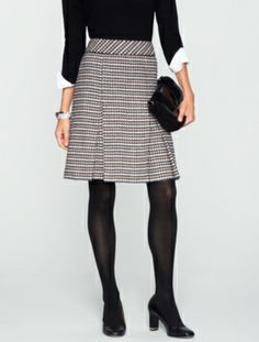 Talbots - Checked Pleated Skirt  | Skirts  | Petites